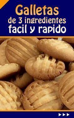 #receta #galletas #fácil #rápido Galletas de 3 ingredientes fácil y rápido