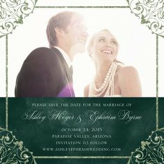 Elegant Vows - Signature White Photo Save the Date Cards - These are perfect!  So pretty!