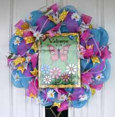 Hey, I found this really awesome Etsy listing at https://www.etsy.com/listing/218102098/spring-wreath-summer-wreath-welcome