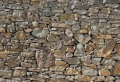 "Stone Wall Wall Mural Comes with 8 panels and Measures to 12' 1"" x 8' 4"" -- how about in your bedroom as a ""headboard""?"