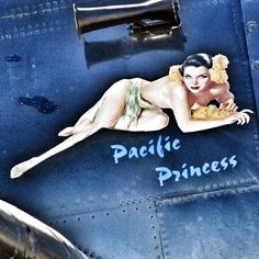 """Pacific Princess"" nose art"