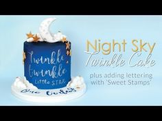 Hi and welcome back to my kitchen. In this weeks video tutorial I share with you step by step how to make this Twinkle Twinkle themed cake, from the moon, fondant clouds, stars, airbrushing t. Fondant Baby, Fondant Cakes, Star Cakes, Cake Tutorial, Flower Tutorial, Take The Cake, Cake Decorating Tutorials, Twinkle Twinkle Little Star, How To Make Chocolate