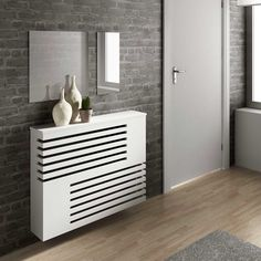 Moderne look radiator behuizeing Radiator Heater Covers, Radiator Shelf, Wall Heater Cover, Home Radiators, Column Radiators, Modern Radiator Cover, Diy Home Decor, Room Decor, Woodworking Plans