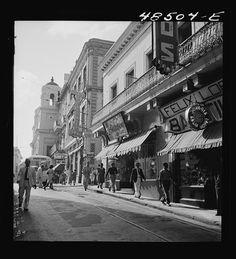 San Juan, Puerto Rico. Street scene, 1941