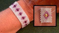 come inserire un bicono SW in un lavoro a peyyote Beading4perfectionists : Odd peyote basic stitch bracelet with swarosvki beading tutorial