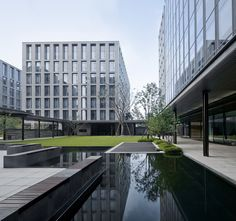Gallery of A Garden by the Side of a Wetland—Xixi International / GAD work - 22 Open Architecture, Landscape Architecture, Solar Panel Manufacturers, Science Park, Advantages Of Solar Energy, Facade Design, Modern Landscaping, Water Features, Solar Panels