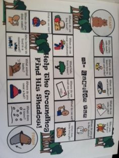 Groundhog Day board game to work on a variety of wh- questions.-  Pinned by @PediaStaff – Please Visit http://ht.ly/63sNt for all our pediatric therapy pins