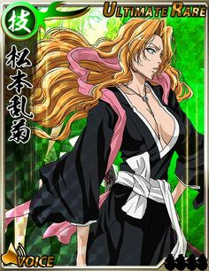 Cards from the Bleach Bankai Battle game Bleach Characters, Female Characters, Anime Characters, Bleach Fanart, Bleach Manga, Bleach Figures, Rangiku Matsumoto, Manga Anime, Anime Art