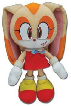 """Genuine Sonic the Hedgehog ~ 7.5"""" Cream the Rabbit New Plush by Great Eastern"""