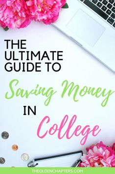 The ultimate guide to saving money in college including budget tips, frugal living ideas, student discounts, and how to graduate debt free. The only resource you will need, covering topics from saving money on tuition, fees and books, to everything you need to know to save on utilities, rent, groceries, and more! Read now and begin saving money in your 20s. #budget #budgeting #savingmoney #college #collegebudget #collegetips #collegelife