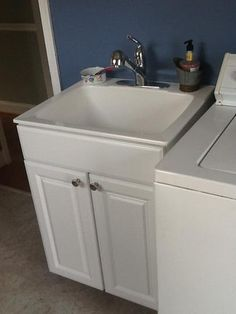 Molded Fiberglass Drop In Utility Sink In White