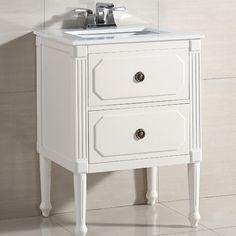 """Simpli Home Versaille 25"""" Single Bathroom Vanity Set & Reviews   Wayfair"""