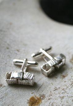 Boxlink Cufflinks Silver - Macha Jewelry