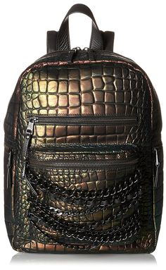 ASH Women's Domino Croco Small Backpack, Metallica * Want to know more, click on the image. (This is an Amazon Affiliate link and I receive a commission for the sales)