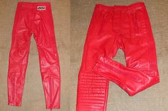 Vintage Red Leather IXS Biker Racing Motorcycle by RollingClothes, $72.00