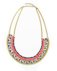 Trades of Hope - This colorful necklace is handcrafted by artisans in India, it comes in a multitude of beautiful colors.  We love how this beautiful necklace is highlighted by brass accents and is woven together to add shimmer to any ensemble!    The poverty cycle in India continues primarily because of the lack of proper education. Most schools are not free in India and many cannot afford to send their children to school.