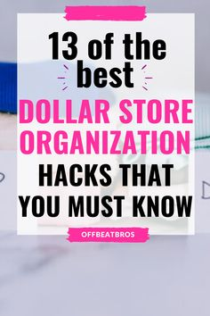 DIY Dollar Store Organizing Hacks To Organize Every Room of Your Home. These cheap and frugal dollar store organization ideas will blow your mind away! These Dollar store organization hacks are best if you want to organize your home under a budget. GLAD I found these amazing dollar store hacks. Definitely Pinning! Dollar Store Bins, Dollar Store Hacks, Dollar Store Crafts, Dollar Stores, Dollar Tree Organization, Life Organization, Bathroom Organization, Craft Room Tables, Dollar Tree Finds