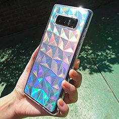 Galaxy Note 8 Case, Ringke [Air Prism Glitter Combo Pack][FREE Limited Edition Holographic Deco Film] 3D Abstract Design Lightweight Bling Stylish Protective TPU Drop Resistant Cover - Glitter Clear: Amazon.co.uk: Electronics