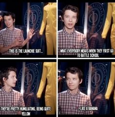 Leave it to Asa Butterfield to say this about a costume ;) Gotta agree with him though, lol