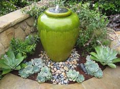 These days a garden that does not have a water feature of some sort is definitely missing out. It may be as large as a garden pond with aquatic plants… #gardenfountainslandscaping #largegardenfountains