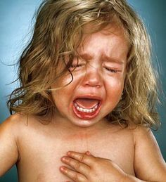 """Crying Babies - When criticized for making children cry, Greenberg reminds viewers that this is """"the exact technique used in ads and movies and TV."""" (Jill Greenberg)"""