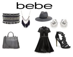 """""""Soirée de Luxe with bebe Holiday: Contest Entry"""" by gazetterrib on Polyvore featuring Bebe and Milly"""