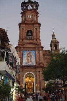 The Church of Our Lady of Guadalupe (La Iglesia de Nuestra Senora de Guadalupe) in Puerto Vallarta, Mexico