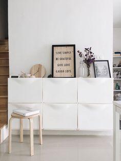 meuble à chaussures suspendu blanc IKEA Trones #maison #mobilier #shoes #furniture