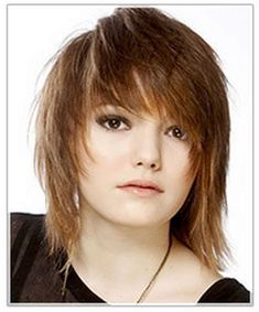 Medium Straight Light Auburn Brunette Emo Hairstyle with Side Swept Bangs and Light Blonde Highlights : Casual Medium Straight Hairstyle i think i love both the cut and color on this style first of three views Wedge Hairstyles, Fringe Hairstyles, Feathered Hairstyles, African Hairstyles, Hairstyles With Bangs, Straight Hairstyles, Bouffant Hairstyles, Beehive Hairstyle, Updos Hairstyle