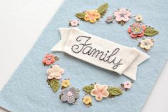 Family Embroidered Wall Hanging by SewSweetStitches on Etsy, $40.00