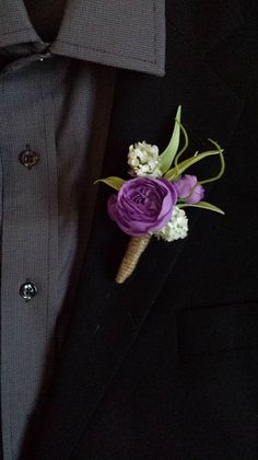 Wedding Boutonniere (Boutineer) - Mixed Flowers with Burlap Twine on Etsy, $8.00