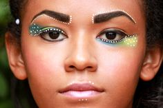 Aboriginal inspired makeup look