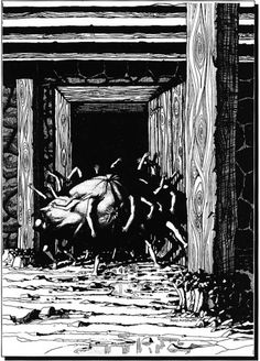 Man-Bagari, the child-thing in the basement (Janet Aulisio, Call of Cthulhu supplement Mansions of Madness, Chaosium, 1990)
