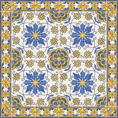 Die Fliesen Aus Dem Xvii Jahrhundert Verfügen Als Charakteristik Über Ein Bestimmtes Design Auf Einer Fliese, Die In Verbindung Mit Anderen. XVII