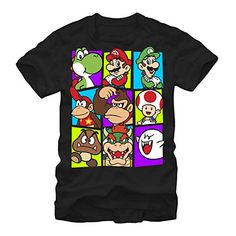 Nintendo Mario Cast Mens S Graphic T Shirt - Fifth Sun @ niftywarehouse.com