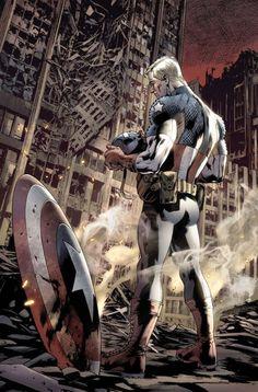 extraordinarycomics:  Captain America byBRYAN HITCH.