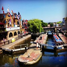 """Camden Market, London - The Camden markets are a number of adjoining large retail markets in Camden Town near the Hampstead Road Lock of the Regent's Canal, often collectively named """"Camden Market"""" or """"Camden Lock""""."""