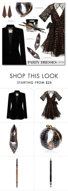 """""""Party Dresses ... 2017"""" by greta-martin ❤ liked on Polyvore featuring L'Agence, Dolce&Gabbana, It Cosmetics, Clarins and Kenneth Jay Lane"""
