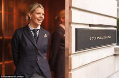 At the Rosewood Hotel in London, doormen wear newsboy caps and female employees don wool-silk blazers