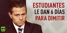 Estudiantes del estado de Guerrero le dan a Peña Nieto 6 días para que dimita http://es.rt.com/CxW