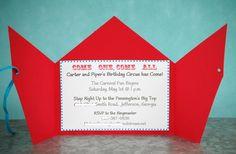 Cute circus/carnival invite