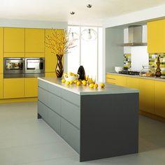 Yellow Kitchen Inspiration #kitchen #yellow #interiors www.sunshinecoastinteriordesign.com.au.