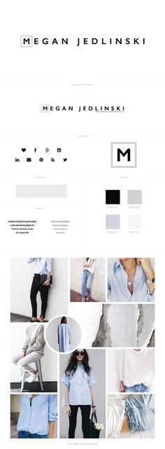 Custom Branding for Megan Jedlinski - logo design, wordpress theme, mood board inspiration, blog design idea, graphic design, branding