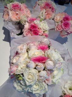 David Austin roses with roses