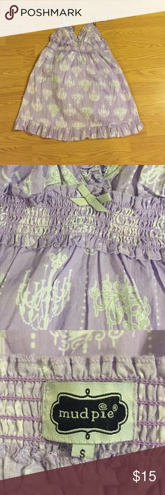 Sexy purple chamise with chandeliers print Excellent condition. and very flattering on. Fabric feels and looks like new. Would look and fit best on someone with a slender upper body and strong legs! Mud Pie Intimates & Sleepwear Chemises & Slips
