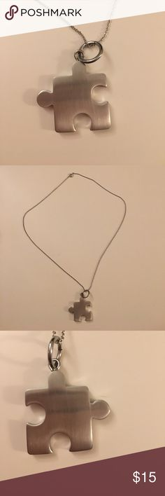 Stainless Steel Puzzle Piece Necklace Adorable stainless steel puzzle piece necklace Jewelry Necklaces