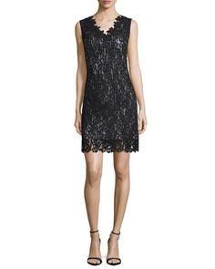 Naya Lace Sheath Dress, Black by Elie Tahari at Neiman Marcus.
