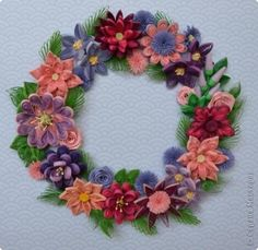 Lovely quilled wreath.