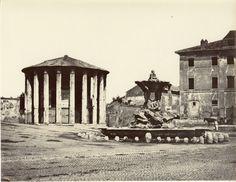 Temple of Vesta, Rome, 1856 - 1859 Rome, Gazebo, Temple, Outdoor Structures, Vintage, Places, Italia, Fotografia, Kiosk