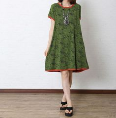 Hey, I found this really awesome Etsy listing at http://www.etsy.com/listing/155102685/green-cotton-dress-maxi-dress-short